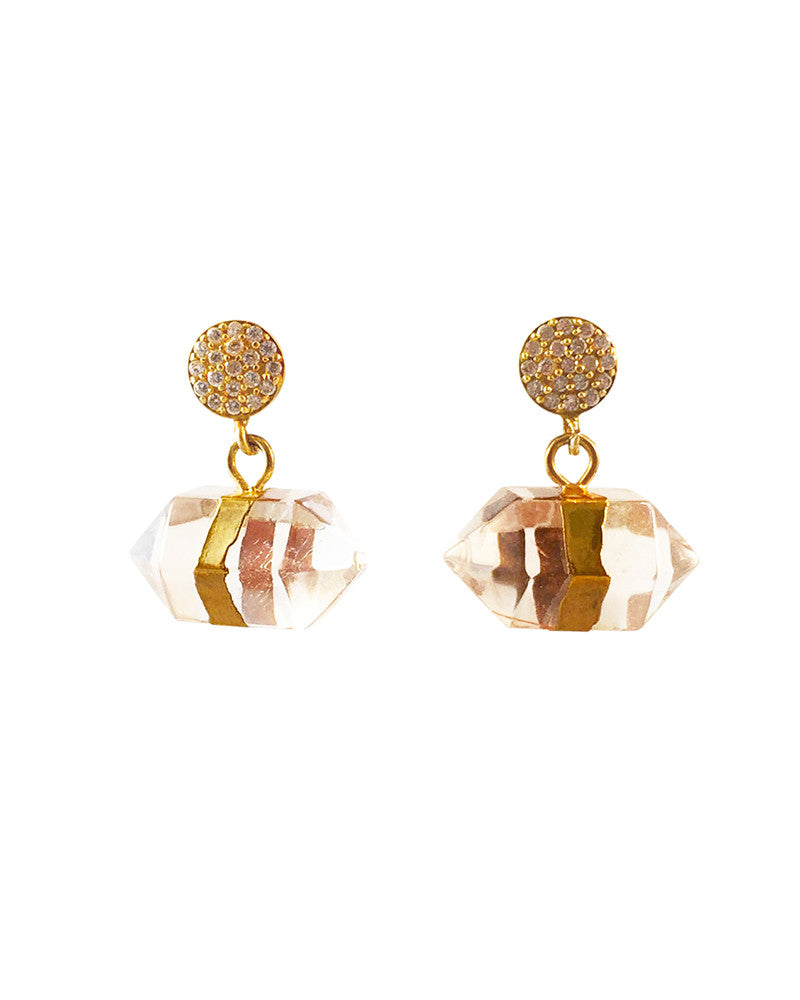 Jewels By Dunn Crystal Bullet Earrings