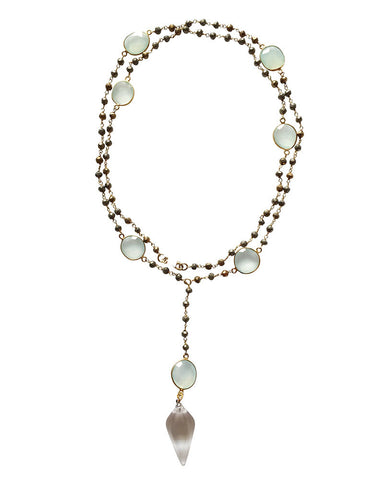Jewels By Dunn Crystal Oval Necklace