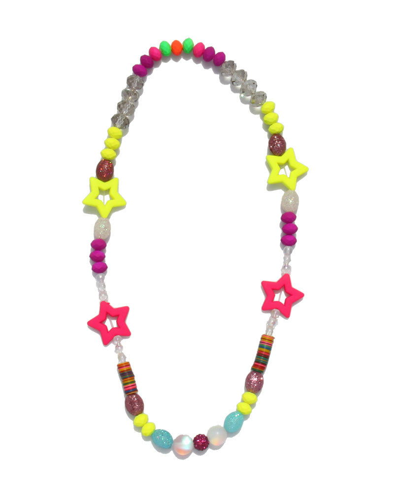Jewels By Dunn Neon Star Handmade Necklace