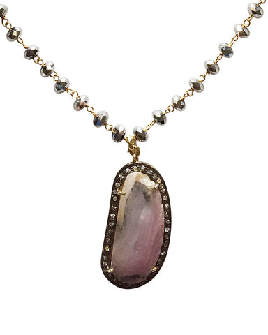 Jewels By Dunn Sapphire Hematite Necklace