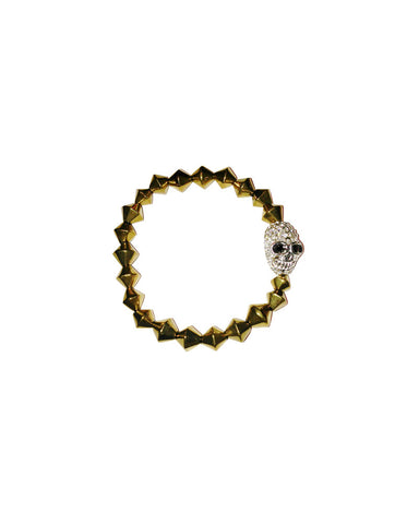 Jewels By Dunn Pave Skull Bracelet