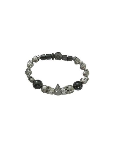 Jewels By Dunn Two Faced Skulls Bracelet