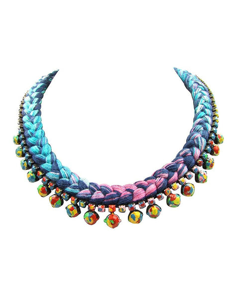 Jolita Painted Swarovski Necklace Livorno
