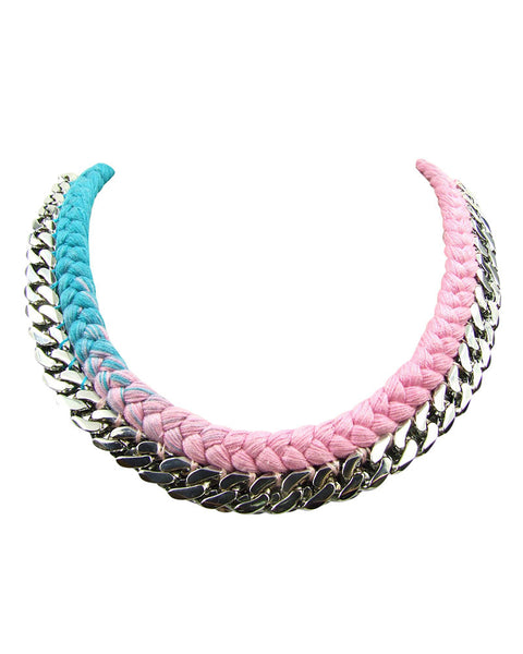 Silk Jolita Necklace with White Gold Chain