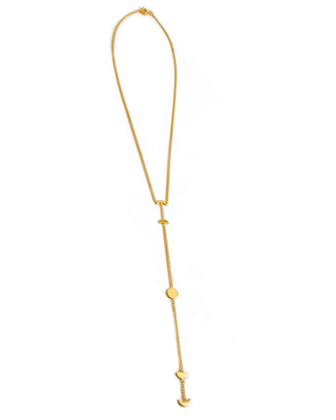 joyiia ama luna gold necklace lariat style