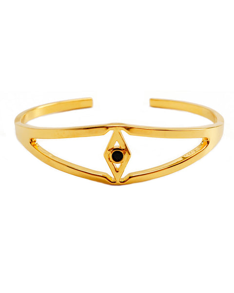 Joyiia Encanta Gold Eye Cuff Black CZ