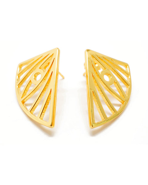Joyiia Evile Eye Gold Earrings