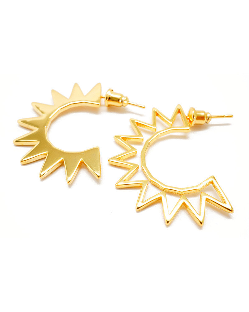 Joyiia Gold Sunburst Earrings
