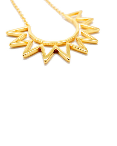 Joyiia Sunburst Gold Necklace Front