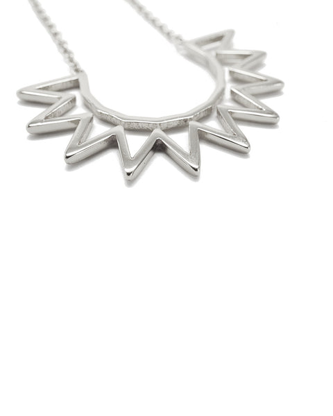 Joyiia Silver Sunburst Necklace Front