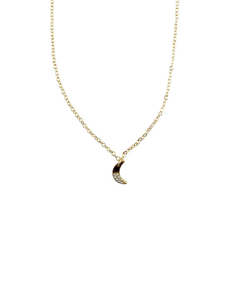 Jules Smith Mini Crescent Moon Charm Necklace