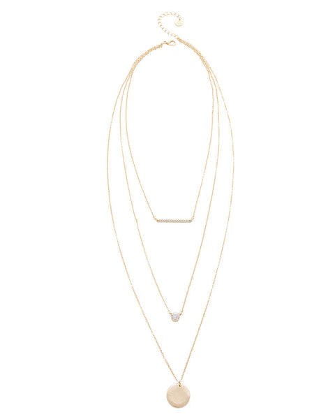 Jules Smith Triple Layer Charm Necklace