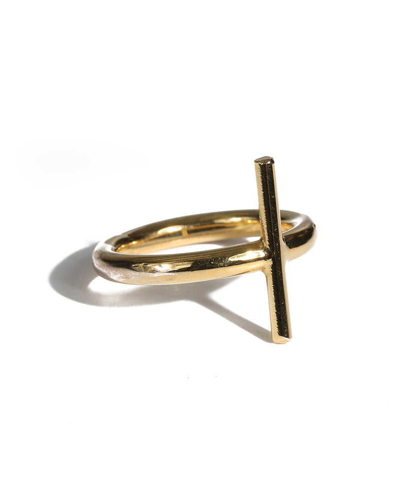 gold cross ring womens jewelry lisa george
