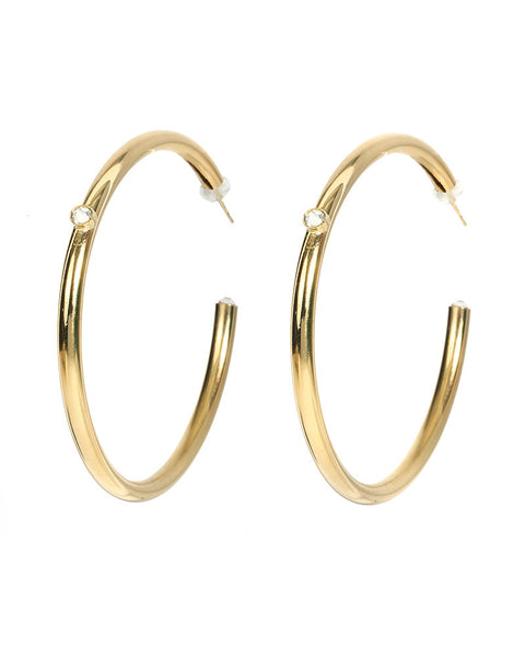gold hoop earrings l george designs cystal big small hoop round