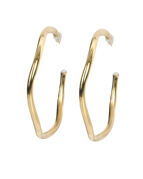 gold wavy designer earrings for women l george designs