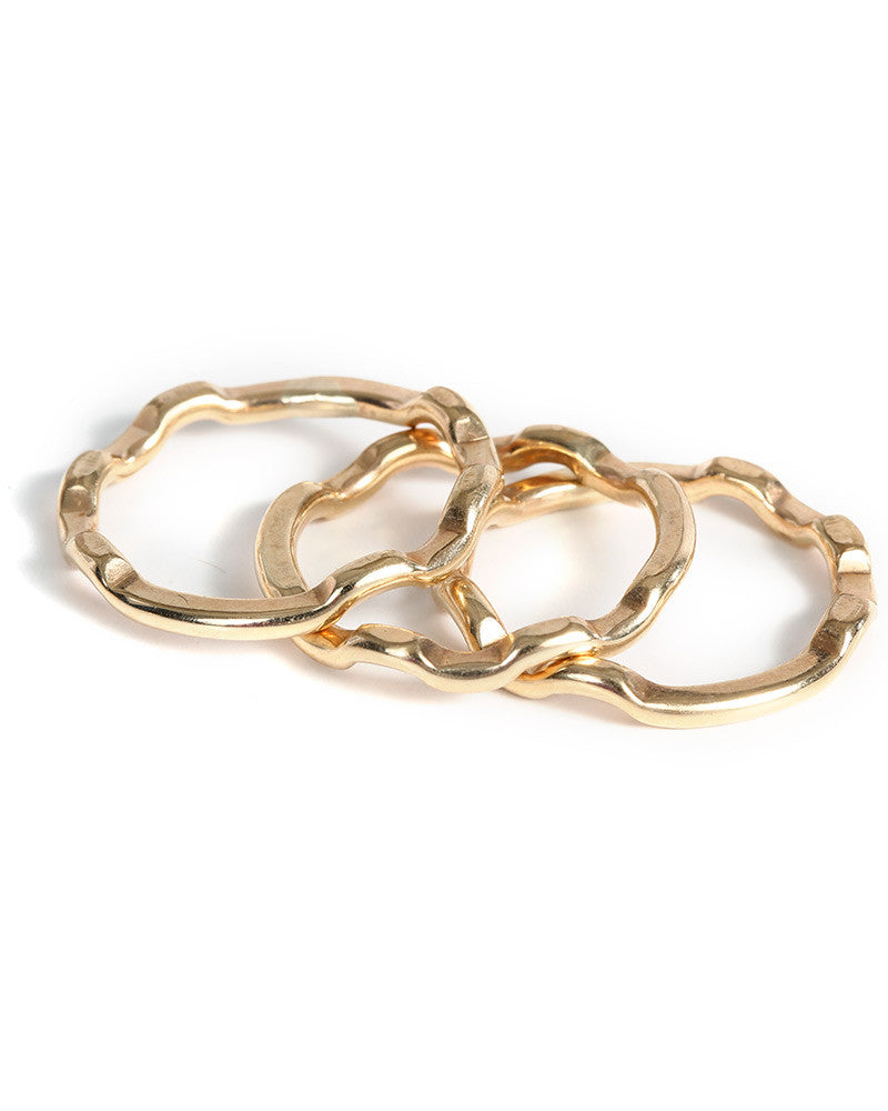 gold wavy zig zag stackers gold rings l george designs