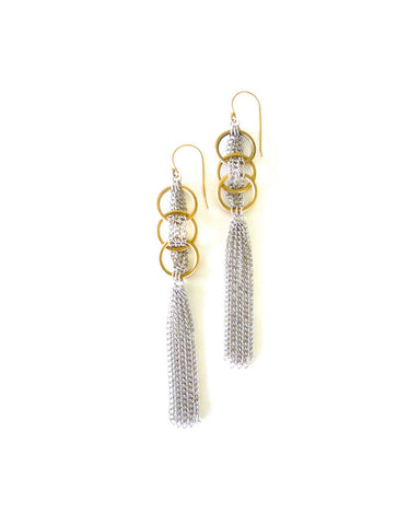 Lena Bernard Narota Chain Hoop Earrings