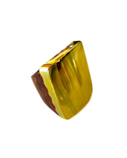 Lena Bernard Roux Wood Ring with Brass