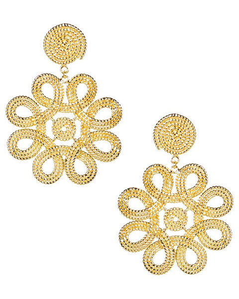 gold designer earrings lisi lerch womens jewelry