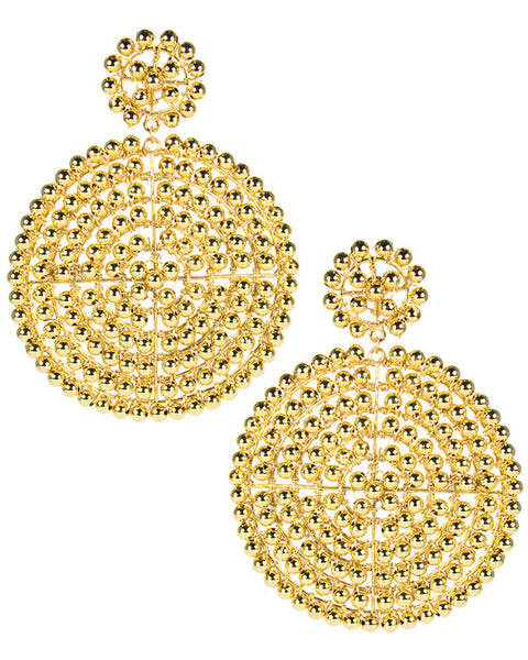 lisi lerch big gold beaded earrings