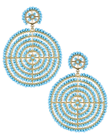 lisi lerch large turquoise round earrings
