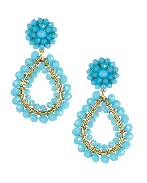 earrings aqua blue hanging dangling lisi lerch