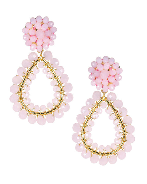 pink hanging dangling lisi lerch hook hoop earrings