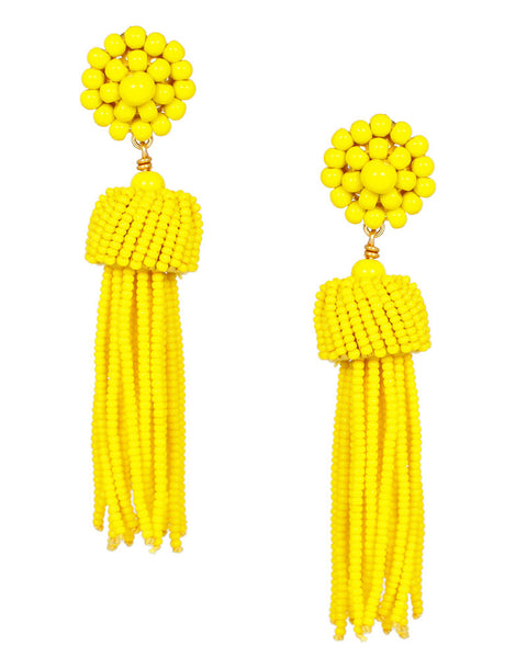 yellow dangling hanging lisi lerch earrings cute pretty stylish