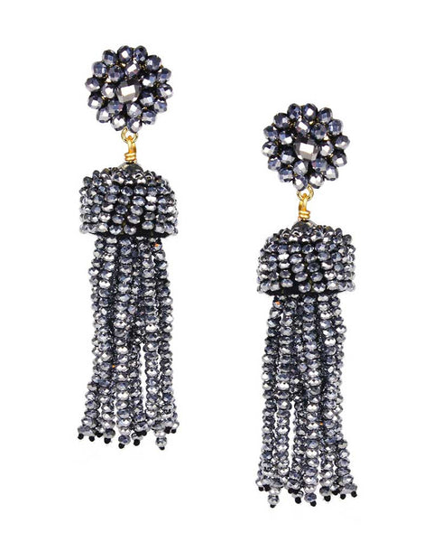fun disco designer tassel earrings lisi lerch summer trend style