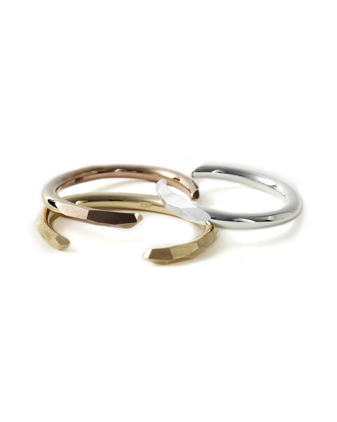 Mau Facet Cuff Gold Rose Gold Silver