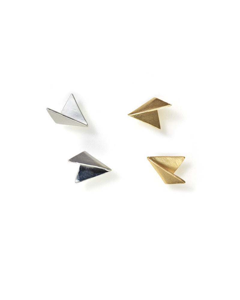 Mau Mini Fold Studs Gold and Silver