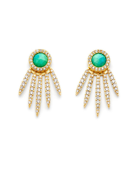 melanie auld 5 point stud turqoise earrings jackets