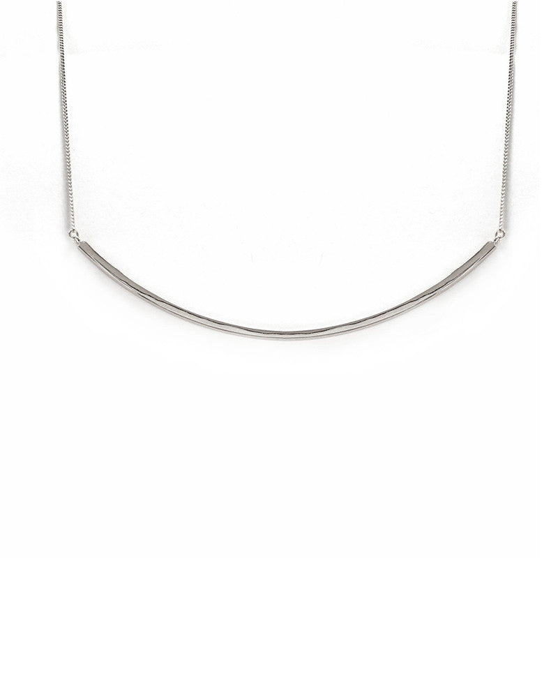 Melanie Auld Silver Bar Collar Necklace