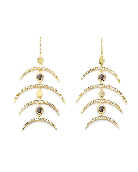 melanie auld multi crescent earrings