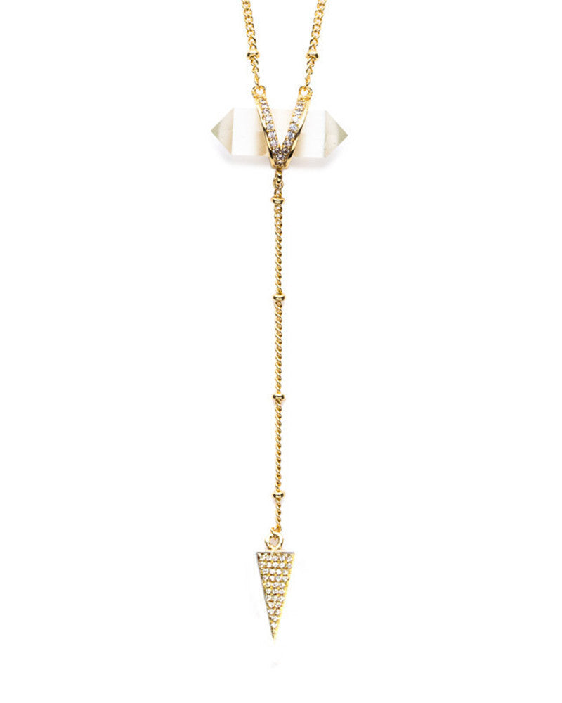 Melanie Auld Crystal Lariat Necklace