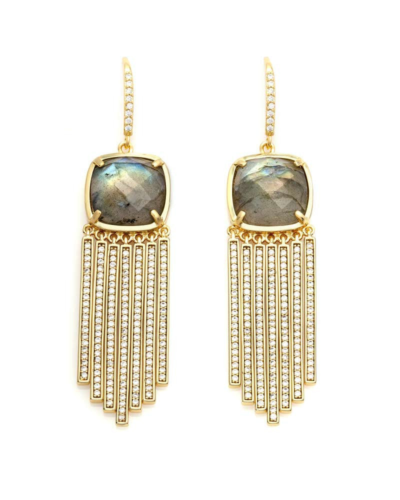 melanie auld fringe earrings cushion cut