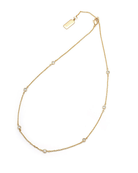 delicate skinny slim gold necklace womens jewelry melanie auld
