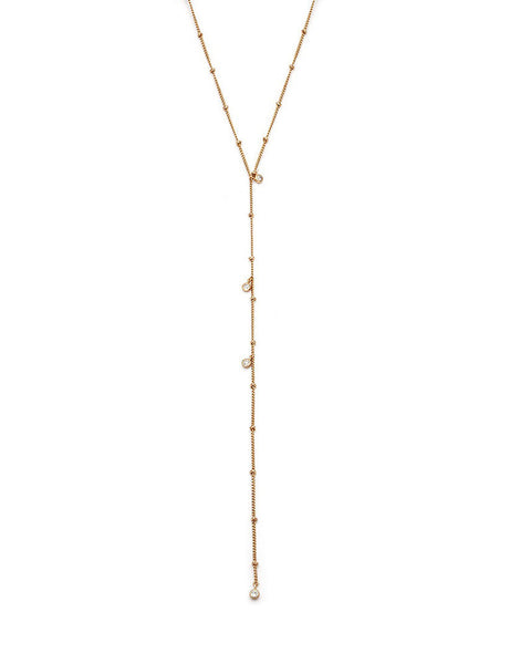 gold slim long melanie auld jewelry necklace