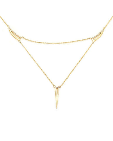 Melanie Auld Delicate Triangle Gold Necklace