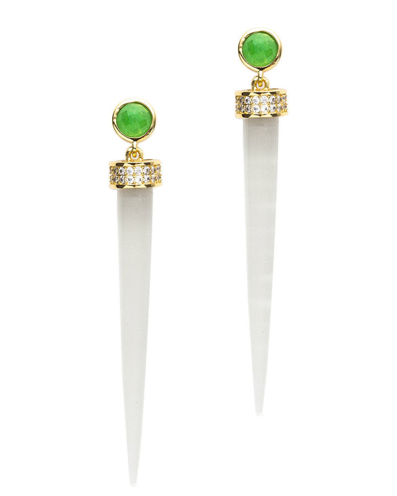 Melanie Auld Jade Drop Earrings