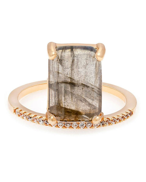 Melanie Auld | Emerald Cut Stacking Ring