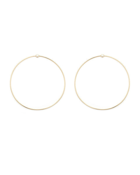 gold halo round circular womens jewelry earrings designer melanie auld