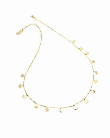 melanie auld gold disc necklace