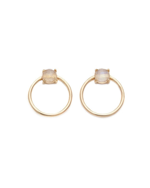 gold earrings moonstone jewelry elegant fancy melanie auld