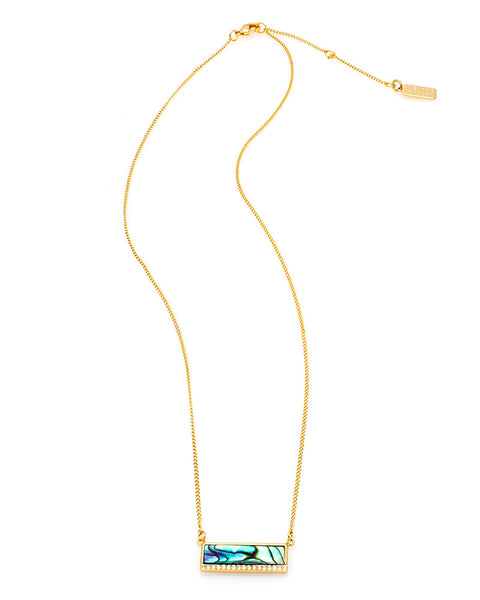 melanie auld modern stone bar necklace