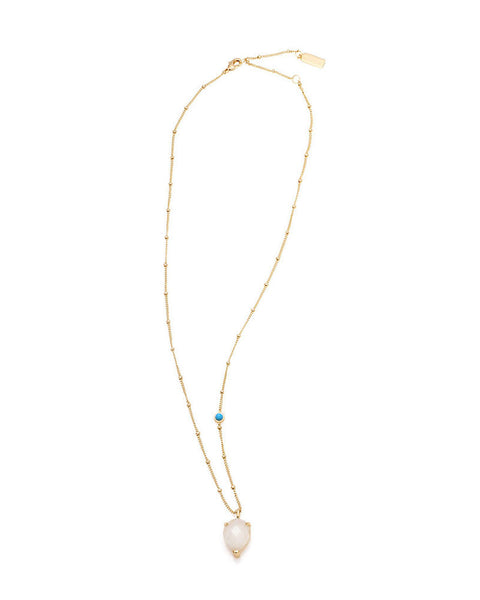 melanie auld moonstone teardrop necklace