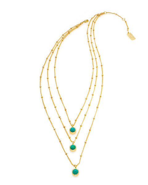 melanie auld multi turquoise stand necklace