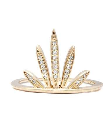 gold fan ring melanie auld stack jewelry shiny gold women ladies