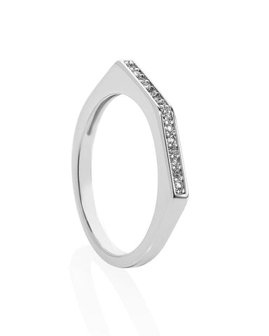 Melanie Auld Pave Point Ring Silver
