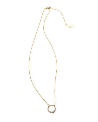melanie auld pave circle stone necklace